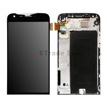 For LG G5 H840/H850 LCD Screen and Digitizer Assembly with Front Housing Replacement - Black - Without Any Logo - Grade S+ (1)
