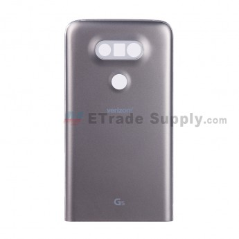 For LG G5 H840/H850 Rear Housing and Bottom Cover Replacement - Gray - With G5 and Verizon Logo - Grade S+ (3)