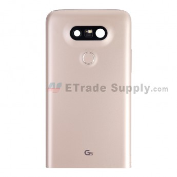 For LG G5 H840/H850 Rear Housing with Small Parts Replacement - Gold - With G5 Logo - Grade S+ (5)