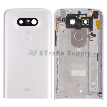 For LG G5 H840/H850 Rear Housing with Small Parts Replacement - Silver - With G5 Logo - Grade S+ (6)