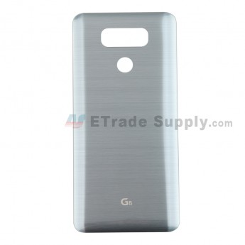 For LG G6 H871/H872/AS993/LS993 Battery Door Replacement - Silver Gray - With Logo - Grade S+ (2)
