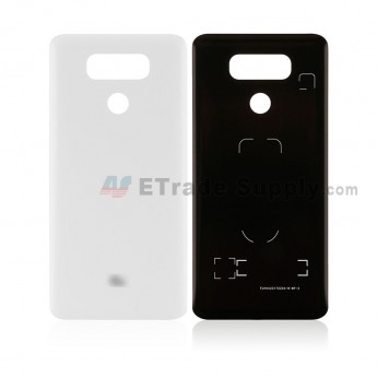 For LG G6 H871/H872/AS993/US997/LS993 Battery Door Replacement - White - With G6 Logo - Grade S+ (6)