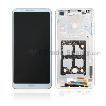 For LG G6 H871/H872/AS993/US997/LS993 LCD Screen and Digitizer Assembly With Front Housing Replacement - Sliver Gray - With Logo - Grade S+ (0)
