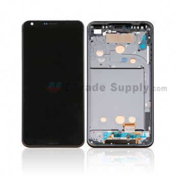 For LG G6 H871/H872/AS993/US997/LS993 LCD Screen and Digitizer Assembly with Front Housing Replacement - Black - With Logo - Grade S+ (0)