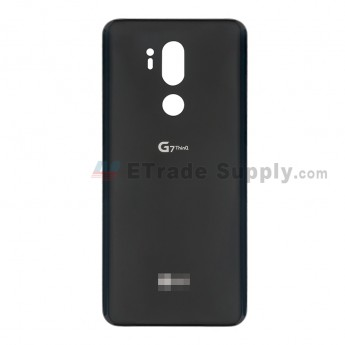 For LG G7 ThinQ Battery Door Replacement - Black - With Logo - Grade S+ (0)
