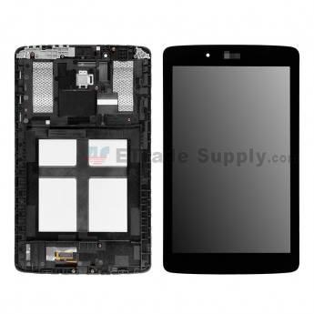 For LG G Pad 7.0 V400 LCD Screen and Digitizer Assembly with Front Housing Replacement - Black - LG Logo - Grade S+ (1)