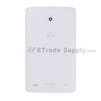 For LG G Pad 8.0 V480 Battery Door Replacement - White - With Logo - Grade S+ (1)