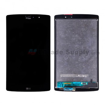 For LG G Pad X 8.3 VK815 LCD Screen and Digitizer Assembly Replacement - Black - With LG and Verizon Logo - Grade S+ (2)