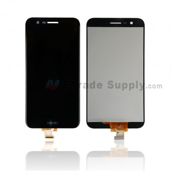For LG K10 (2017) LCD Screen and Digitizer Assembly Replacement - Black - With Logo - Grade S+ (0)