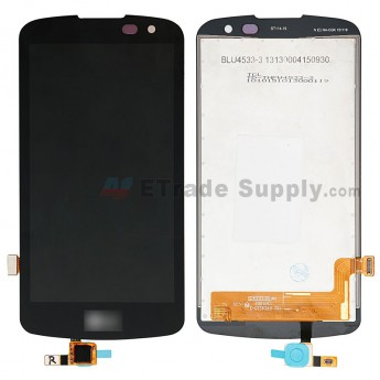 For LG K4 K121 LCD Screen and Digitizer Assembly Replacement - Black - With LG Logo - Grade S+ (0)