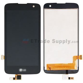 For LG K4 LTE K130 LCD Screen and Digitizer Assembly Replacement - Black - With Logo - Grade S+ (0)
