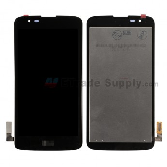 For LG K7 MS330 LCD Screen and Digitizer Assembly Replacement - Black - With LG Logo - Grade S+ (0)