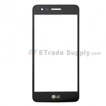 For LG K8 2017 US215 Glass Lens Replacement - Black - Grade R (0)