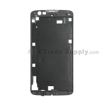For LG K8 K350 Front Housing Replacement (Without Adhesive) - Black - Grade S+ (0)