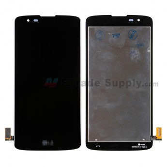For LG K8 K350 LCD Screen and Digitizer Assembly Replacement - Black - With LG Logo - Grade S+ (6)