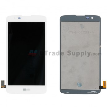 For LG K8 K350 LCD Screen and Digitizer Assembly Replacement - White - With Logo - Grade S+ (0)