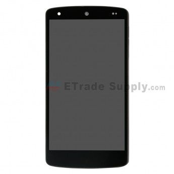For LG Nexus 5 D820 LCD and Digitizer Assembly with Front Housing Replacement (No Small Parts, Black Mesh Cover) - Black - Without Any Logo - Grade S+ (0)