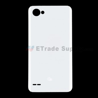 For LG Q6 Battery Door Replacement - White - With Q6 Logo - Grade S+ (0)
