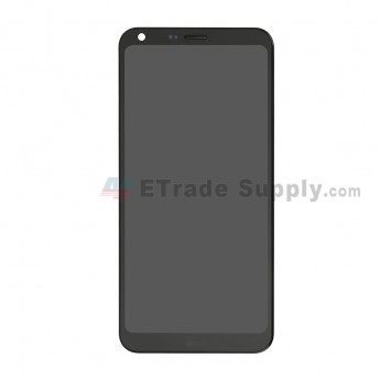 For LG Q6 LCD Screen and Digitizer Assembly with Front Housing Replacement - Black - With Logo - Grade S+ (0)