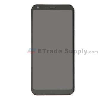For LG Q6 LCD Screen and Digitizer Assembly with Rear Housing Replacement - Sliver Gray - With Logo - Grade S+ (0)