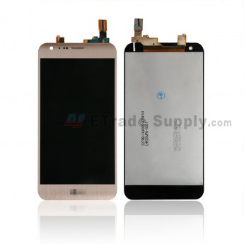 For LG X Cam K580 LCD Screen and Digitizer Assembly Replacement - Gold - With Logo - Grade S+ (0)