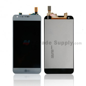 For LG X Cam K580 LCD Screen and Digitizer Assembly Replacement - Silver Gray - With Logo - Grade S+ (0)