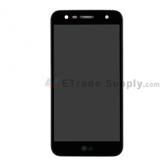 For LG X Power 2 M320G LCD Screen and Digitizer Assembly with Front Housing Replacement - Black - With Logo - Grade S+ (0)