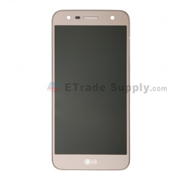 For LG X Power 2 M320G LCD Screen and Digitizer Assembly with Front Housing Replacement - Gold - With Logo - Grade S+ (0)