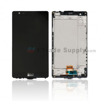 For LG X Power K210 LCD Screen and Digitizer Assembly with Front HousingReplacement - Black - With Logo - Grade S+ (0)