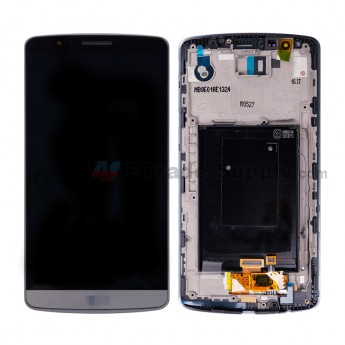 For LS G3 D850/D855/LS990 LCD Screen and Digitizer Assembly with Front Housing Replacement (No Small Parts) - Gray - LS Logo - Grade S+ (3)