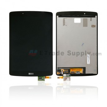 For LS G Pad F 8.0 V496 LCD Screen and Digitizer Assembly Replacement - Black - With LS Logo - Grade S+ (0)