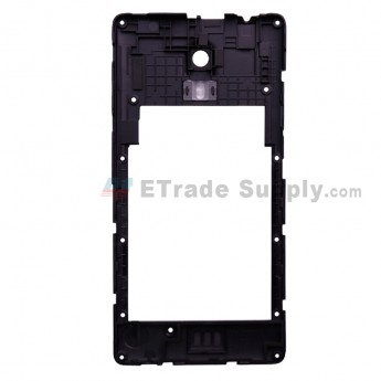 For Leagoo Z6 D5001 Rear Housing Replacement - Black - Grade S+ (0)