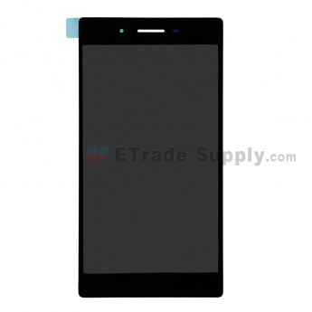 For Lenovo Tab 3 730X LCD Screen and Digitizer Assembly Replacement - Black- With Logo - Grade S+ (0)