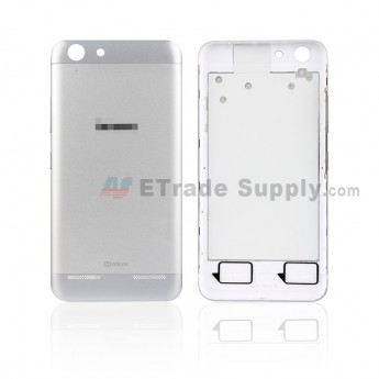 For Lenovo VIBE K5 Battery Door Replacement - Silver - With Logo - Grade S+ (0)