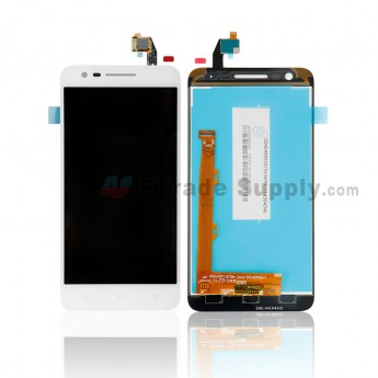 For Lenovo Vibe C2 LCD Screen and Digitizer Assembly - White - Without Logo - Grade S+ (0)