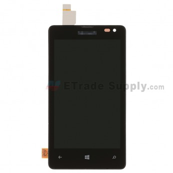 For MF Lumia 435 LCD Screen and Digitizer Assembly with Front Housing Replacement - Black - MF Logo - Grade S+ (0)
