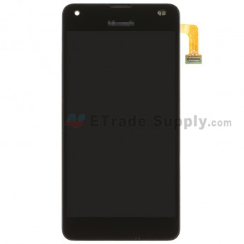 For MF Lumia 550 LCD Screen and Digitizer Assembly with Front Housing Replacement - Black - MF Logo - Grade S+ (0)
