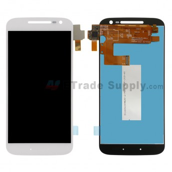 For MT Moto G4 LCD Screen and Digitizer Assembly Replacement - White - Without Any Logo - Grade S+ (0)
