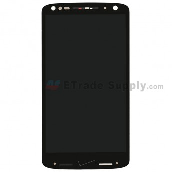 For MT Moto X Force XT1581/Droid Turbo 2 XT1585 LCD Digitizer Assembly with Front Housing Replacement - Black - Without Any Logo - Grade S+ (0)