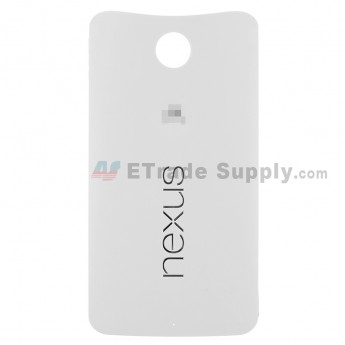 For MT Nexus 6 Battery Door Replacement - White - MT Logo - Grade S+ (0)