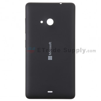 For Microsoft Lumia 535 Dual SIM Battery Door Replacement - Black - With Logo - Grade S+ (0)