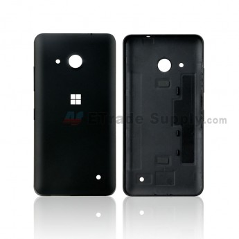 For Microsoft Lumia 550 Battery Door Replacement - Black - With MF Logo Only - Grade S+ (0)