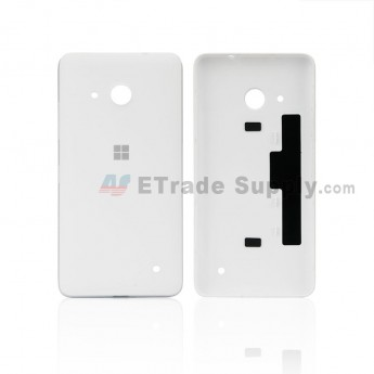 For Microsoft Lumia 550 Battery Door Replacement - White - With MF Logo Only - Grade S+ (0)