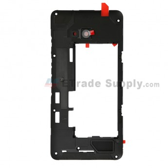 For Microsoft Lumia 640 LTE Dual SIM Middle Plate Replacement - Grade S+ (0)