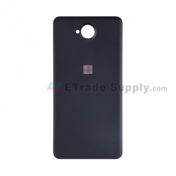 For Microsoft Lumia 650 Battery Door Replacement - Black - With Logo - Grade S+ (2)