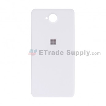 For Microsoft Lumia 650 Battery Door Replacement - White - With Logo - Grade S+ (1)