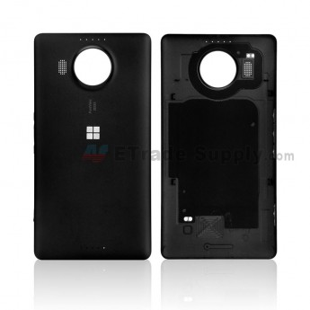 For Microsoft Lumia 950XL Battery Door Replacement - Black - With Logo - Grade S+ (0)