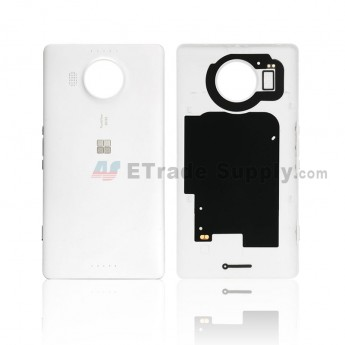 For Microsoft Lumia 950XL Battery Door Replacement - White - With Logo - Grade S+ (0)