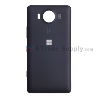 For Microsoft Lumia 950 Battery Door Replacement - Black - With Microsoft Logo - Grade S+ (6)