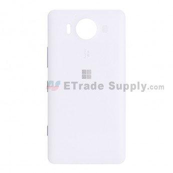 For Microsoft Lumia 950 Battery Door Replacement - White - With Microsoft Logo - Grade S+ (5)